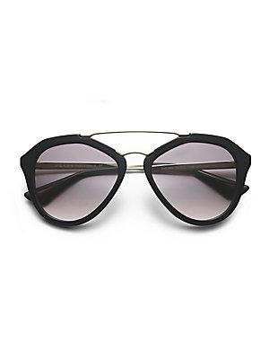 d95e16b4f4e8c ... wholesale prada 54mm mirrored aviator sunglasses 26770 579c9