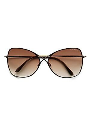 5a9db55f6b Tom Ford - Sascha 55MM Butterfly Sunglasses - saks.com