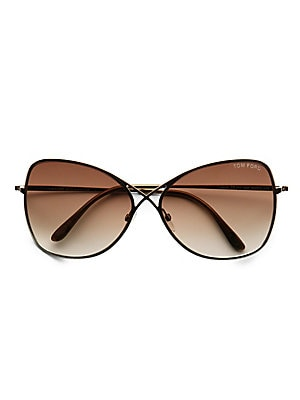 1cdbd09917d2 Tom Ford - Penelope Metal Cat Eye Sunglasses - saks.com