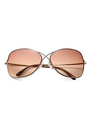 3da9f8e19e0 Tom Ford - Miranda Oversized Round Sunglasses - saks.com