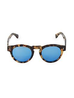 927c745f702 Product image. QUICK VIEW. Illesteva. Leonard Tortoise Mirrored 48MM Round  Sunglasses