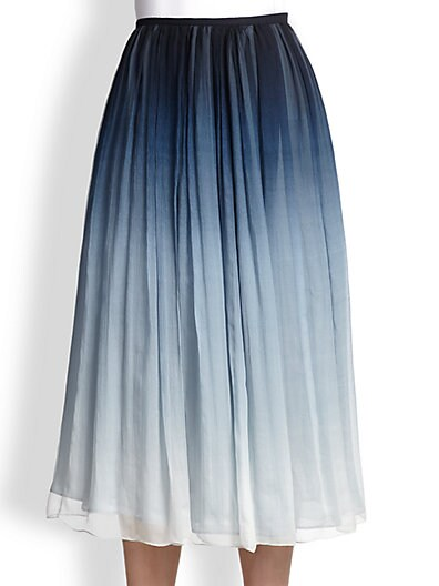Degradé Silk Skirt
