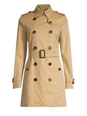 heiß-verkaufender Beamter 100% authentisch neue Version Kensington Mid-Length Heritage Cotton Trench Coat