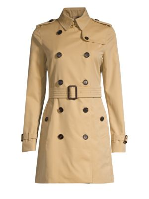 Kensington Mid-Length Heritage Cotton Trench Coat in Neutrals