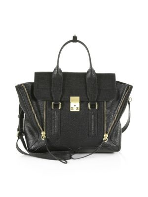Pre-Owned: Pashli Satchel Leather Medium in Black