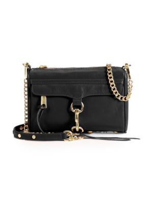 Mini Mac Leather Chain Crossbody Bag by Rebecca Minkoff