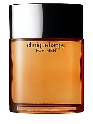 Image of First there was Clinique Happy. A hint of citrus, a wealth of flowers. A mix of emotions. Now, introducing Clinique Happy for Men. Cool. Crisp. A hint of citrus. Wear it and be happy. Made in USA. TOP NOTES Kaffir Lime Green Notes Mandarin Orange Kalamanz
