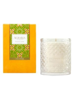 Lime & Orange Blossoms Woven Crystal Candle