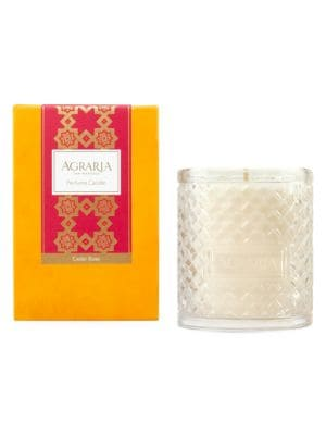Cedar Rose Woven Crystal Candle / 7 oz.