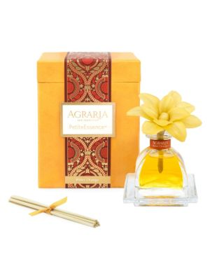 Image of Agraria's new PetiteEssence diffusers are exact miniatures of our new AirEssence with flowers. Each 1.7 oz. PetiteEssence now includes one flower handmade with slices of balsa wood. As the perfumed essential oils are absorbed through the cotton wick, the