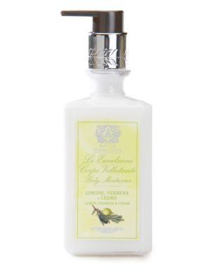 Image of The Antica Farmacista Fragranced Body Moisturizer is a luxurious way to wear the signature scents of the brand. This body lotion includes natural moisturizing ingredients such as aloe vera, apricot kernel oil, green tea and fruit extracts, sweet almond oi