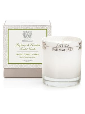 Lemon, Verbena and Cedar Platinum Round Candle / 9 oz.