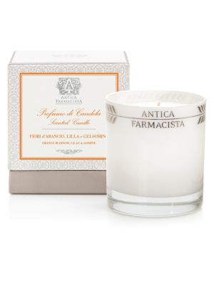 Orange Blossom, Lilac and Jasmine Round Candle / 9 oz.