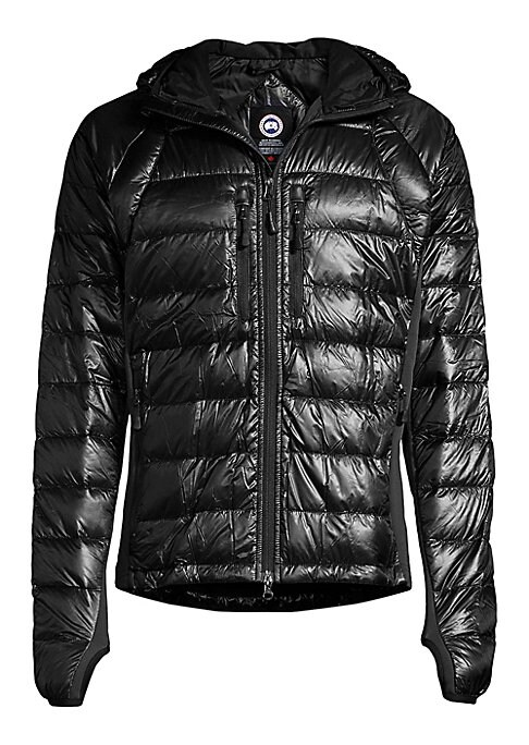 Image of This lightweight, breathable style leverages the brands' expertise in down insulation while ensuring outstanding flexibility. Weighing less than half a pound, it is perfect as active wear, for layering and for fast packing. Zip front. Attached hood. Zippe