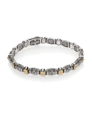 Konstantino Hermione 18K Yellow Gold & Sterling Silver Etched Bracelet