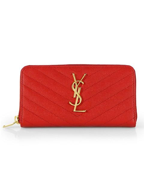 Monogram Matelassé Leather Zip-Around Wallet