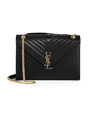 1dba71fb2499 Saint Laurent - Large Monogram Matelassé Leather Chain Shoulder Bag -  saks.com