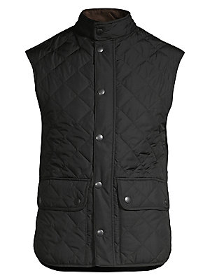 """Image of A sporty, sleeveless vest is carefully crafted with a quilted finish, adding a refined, tailored aesthetic Sleeveless Concealed front zip with snap closure Buttoned waist flap pockets Lined About 27"""" from shoulder to hem Polyamide Machine wash Imported. M"""