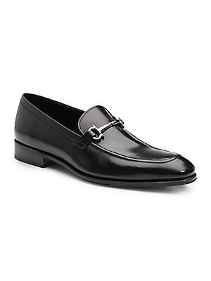 f4f2564e8a4 Salvatore Ferragamo - Fenice Gancini Leather Loafers - saks.com