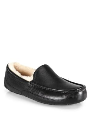 Ascot Uggpure Lined Leather Slippers