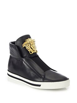 QUICKVIEW Versace First Idol Leather HighTop Sneakers