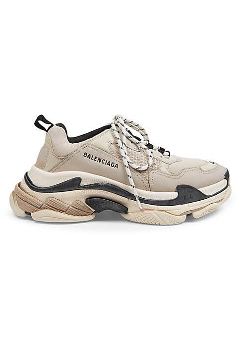 Triple S Sneakers - Ivory Black