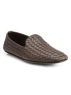853af559c05241 QUICK VIEW. Bottega Veneta. Fiandra Intrecciato Foulard Leather Slippers