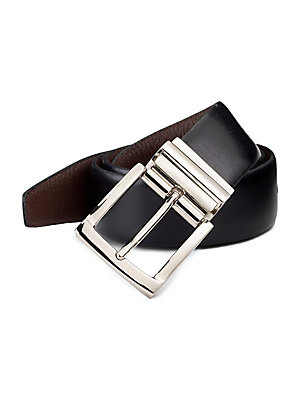 15fbd9bb787a Saks Fifth Avenue - COLLECTION Reversible Leather Belt