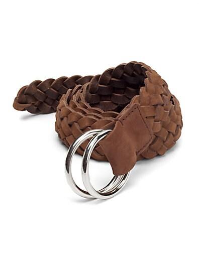 Brunello Cucinelli Braided Leather Belt   Brown