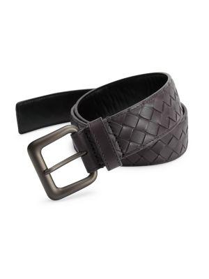 Intrecciato Woven Leather Belt