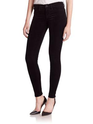 J Brand Velveteen Super Skinny Jeans