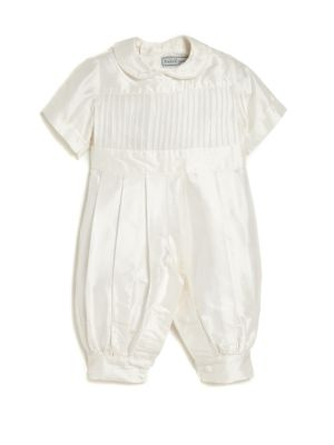 Babys Tucker Pleated Christening Coverall