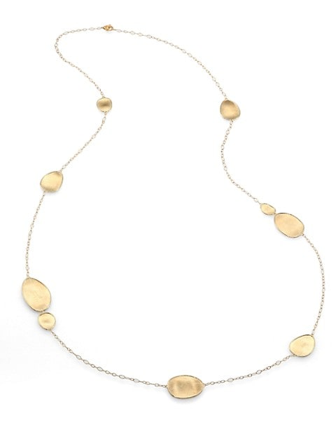 Lunaria 18K Yellow Gold Station Necklace