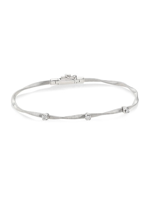 Marrakech 18K White Gold & Diamond Twisted Strand Bracelet