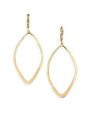 Miss Havisham Hyperion Leaf Drop Earrings