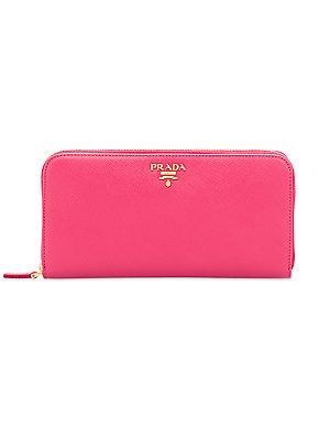 d4aaf95f736731 Prada - Leather Zip-Around Wallet - saks.com