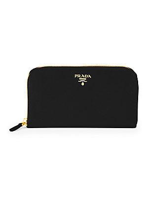 8694de3163a6d7 Prada - Leather Zip-Around Wallet