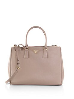 Prada - Saffiano Medium Double Zip Top-Handle Bag
