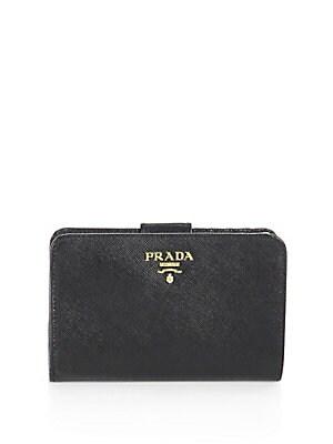 0d6fae7a6301 Prada - Saffiano Leather Wallet - saks.com
