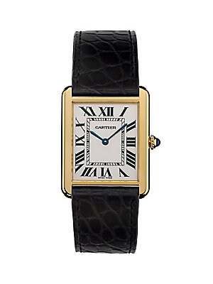 03eaee59a57 Cartier - Tank Solo Large 18K Yellow Gold   Alligator Strap Watch - saks.com