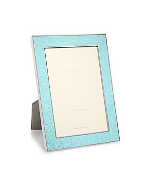 """Image of A luxurious faux-shagreen lends tactile dimension to this modern photo frame that is perfect for both black and white and color photos. Small: Accommodates a 4"""" X 6"""" photo Overall: 5.5""""W X 7.5""""H X 1""""D Large: Accommodates a 5"""" X 7"""" photo Overall: 7""""W X 9""""H"""