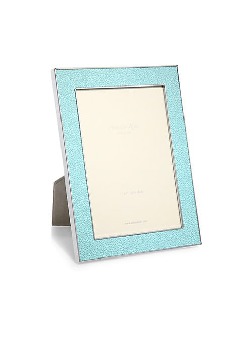 """Image of A luxurious faux-shagreen lends tactile dimension to this modern photo frame that is perfect for both black and white and color photos. Small: Accommodates a 4"""" X 6"""" photo. Overall: 5.5""""W X 7.5""""H X 1""""D.Large: Accommodates a 5"""" X 7"""" photo. Overall: 7""""W X 9"""