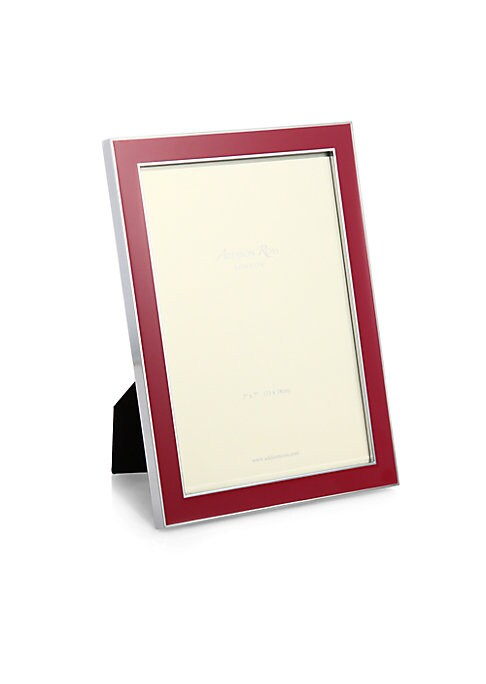 """Image of A refreshingly-hued enamel inlay is sure to highlight your favorite photo on this frame that can be displayed in both portrait and landscape orientation. Small: Accommodates a 4"""" X 6"""" photo. Overall: 5""""W X 7""""H X 1""""D.Large: Accommodates a 5"""" X 7"""" photo. Ov"""