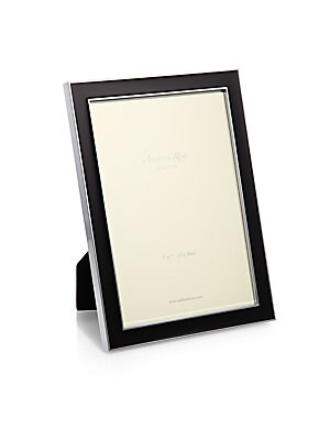 """Image of A refreshingly-hued enamel inlay is sure to highlight your favorite photo on this frame that can be displayed in both portrait and landscape orientation. Small: Accommodates a 4"""" X 6"""" photo Overall: 5""""W X 7""""H X 1""""D Medium: Accommodates a 5"""" X 7"""" photo Ove"""