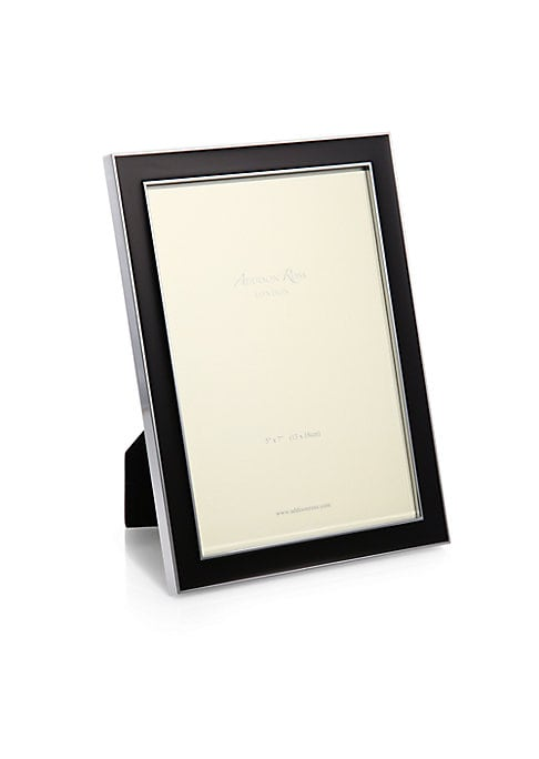"""Image of A refreshingly-hued enamel inlay is sure to highlight your favorite photo on this frame that can be displayed in both portrait and landscape orientation. Small: Accommodates a 4"""" X 6"""" photo. Overall: 5""""W X 7""""H X 1""""D.Medium: Accommodates a 5"""" X 7"""" photo. O"""