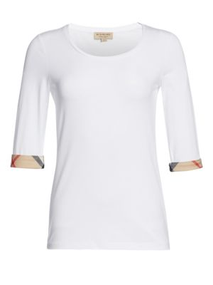 Cotton Check-Cuff Top by Burberry
