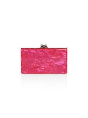 EDIE PARKER Jean Solid Acrylic Clutch Bag in Hot Pink