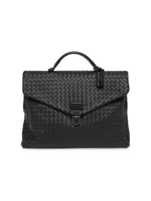 Burberry - Large London Leather Briefcase - saks.com d38fbb007b