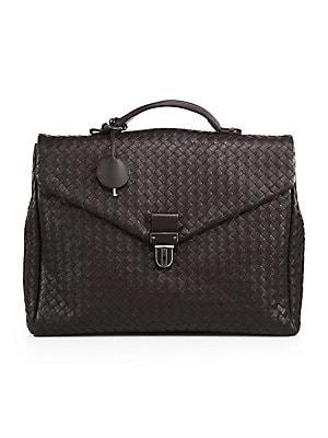Bottega Veneta - Leather Messenger Briefcase - saks.com 241e05cda1