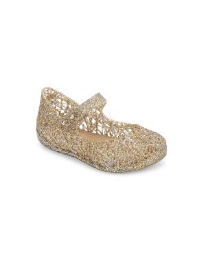 9c884c58d404 Mini Melissa - Baby's & Little Girl's Zigzag Glitter Mary Jane Flats -  saks.com